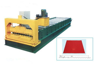 چین Steel Galvanized Roof Roll Forming Machine For Making 0.3 - 0.8mm Thickness Tile تامین کننده