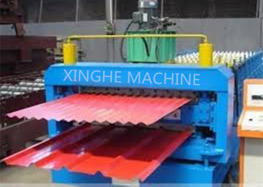 چین Galvanized Metal Double Layer Roofing Sheet Roll Forming Machine / Roll Former Machinery تامین کننده