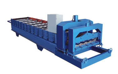 380V 60HZ Blue Glazed Tile Roll Forming Machine Making 828mm Waveform Tile
