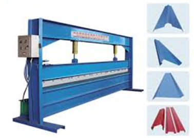 چین Blue Color 4m Width Hydraulic Sheet Bending Machine For Galvanized Steel Coil کارخانه